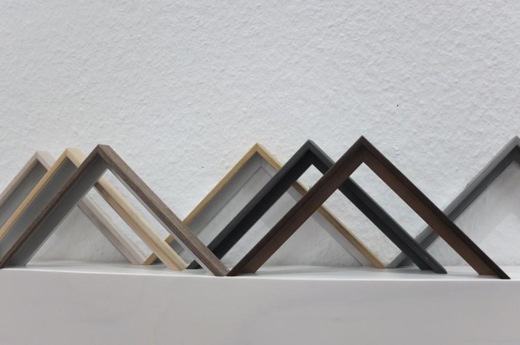 Aluminiumrahmen Holzfurniert in 7 verschiedenen Holzoberflächen