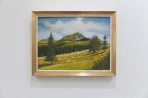 Gemälde im freundlichen, sonnigen Goldrahmen gerahmt