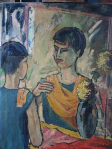 Gemälde von Karl-Max Steffens vor der Restaurierung