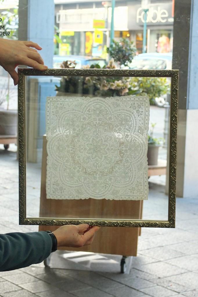 Glasscheiben Nach Mas ~ Stickerei zwischen zwei gläsern bilderrahmen nach maß