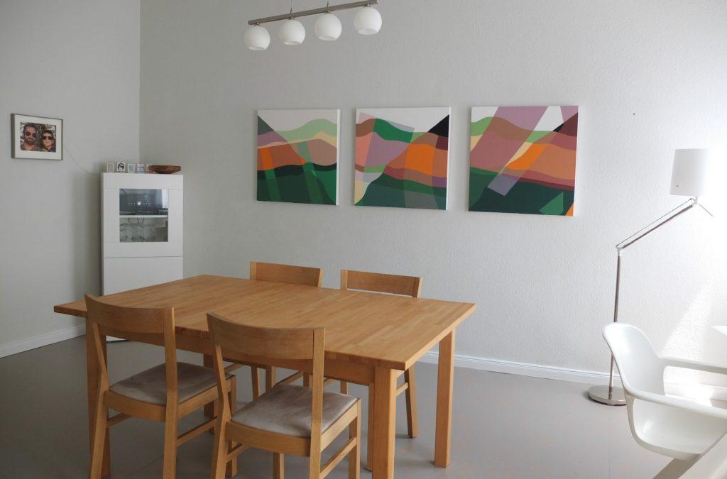 Drei Gemälde von Hubert Heinrich